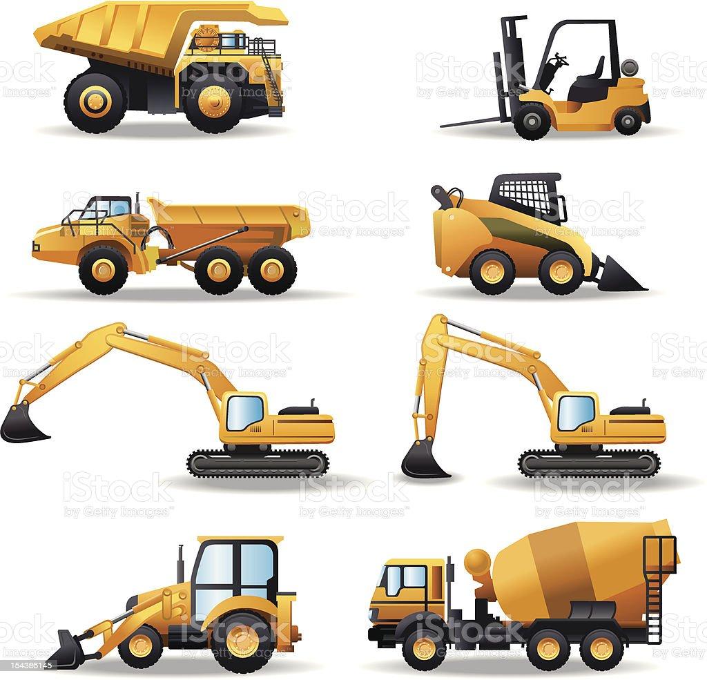 Construction Machinery vector art illustration