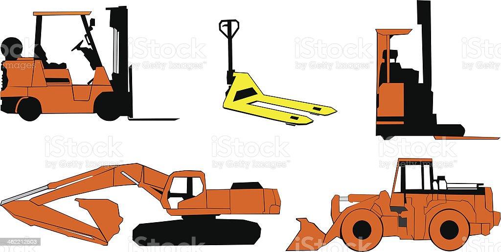 Construction machinery royalty-free stock vector art