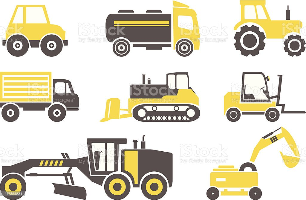 Construction machines royalty-free stock vector art