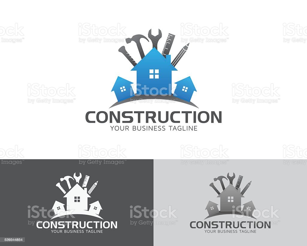 Construction & Maintenance Vector Logo vector art illustration