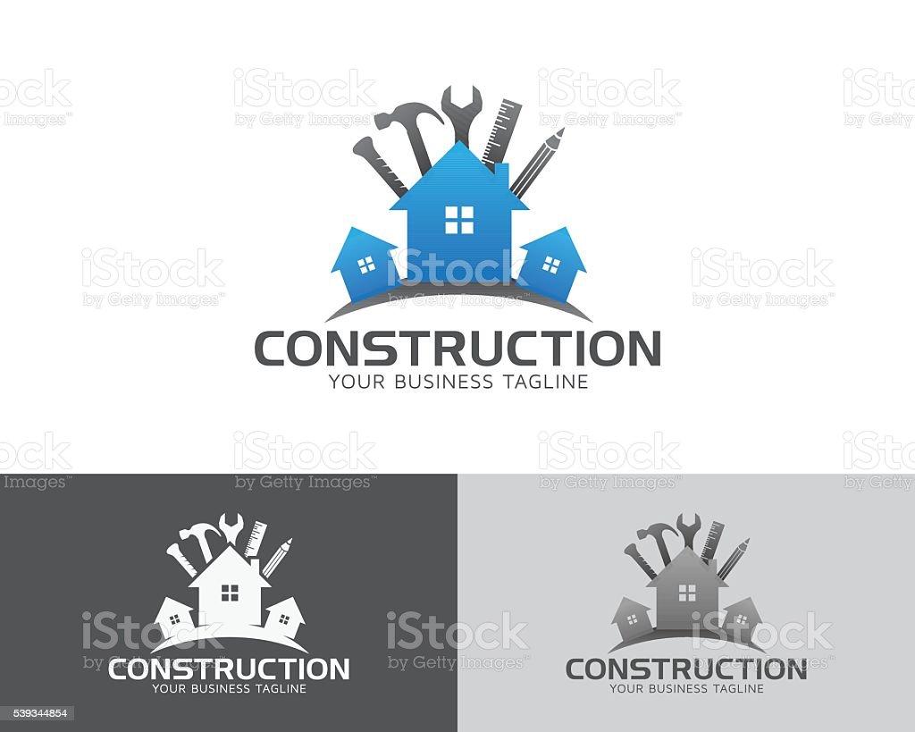 Construction & Maintenance Vector Logo vector art illustration