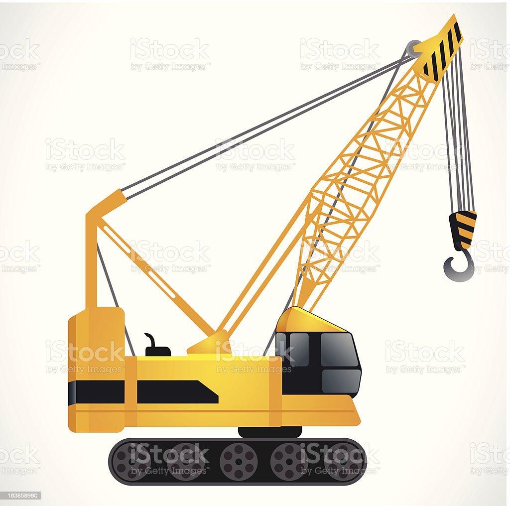 construction motor crane royalty-free stock vector art