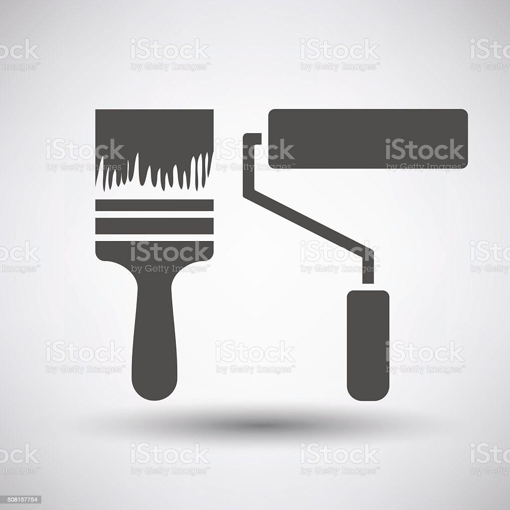 Construction paint brushes icon vector art illustration
