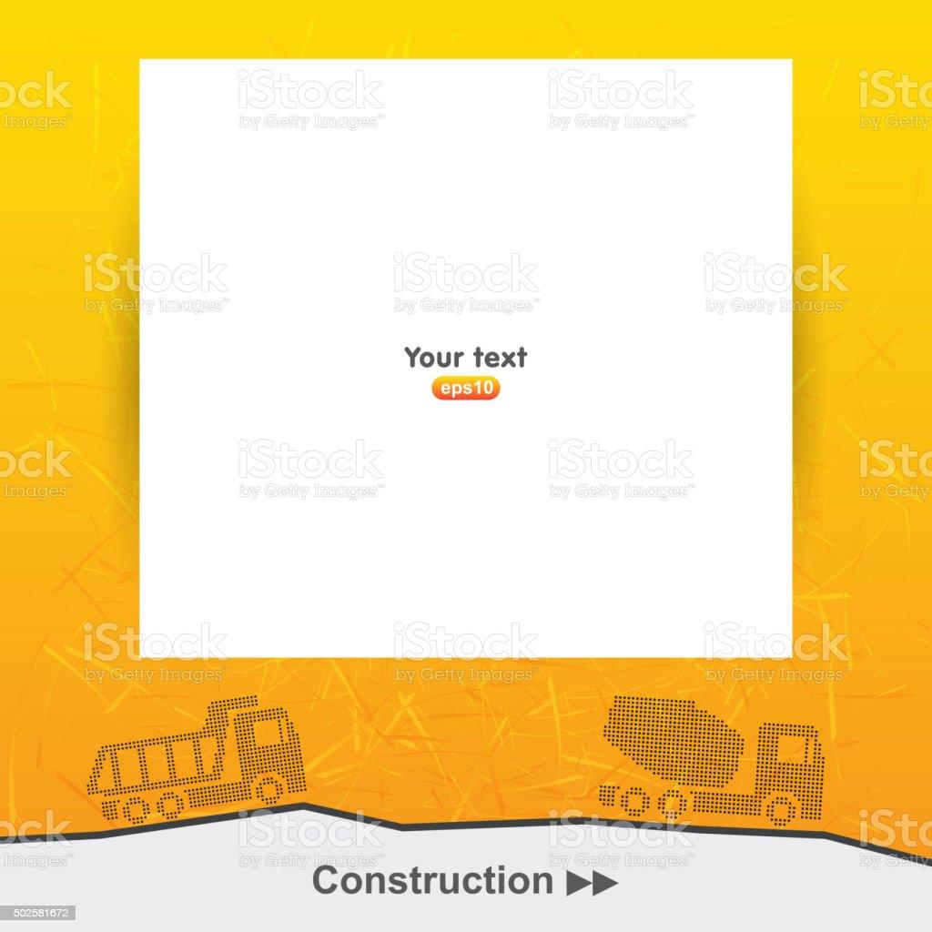 Construction presentation template vector art illustration