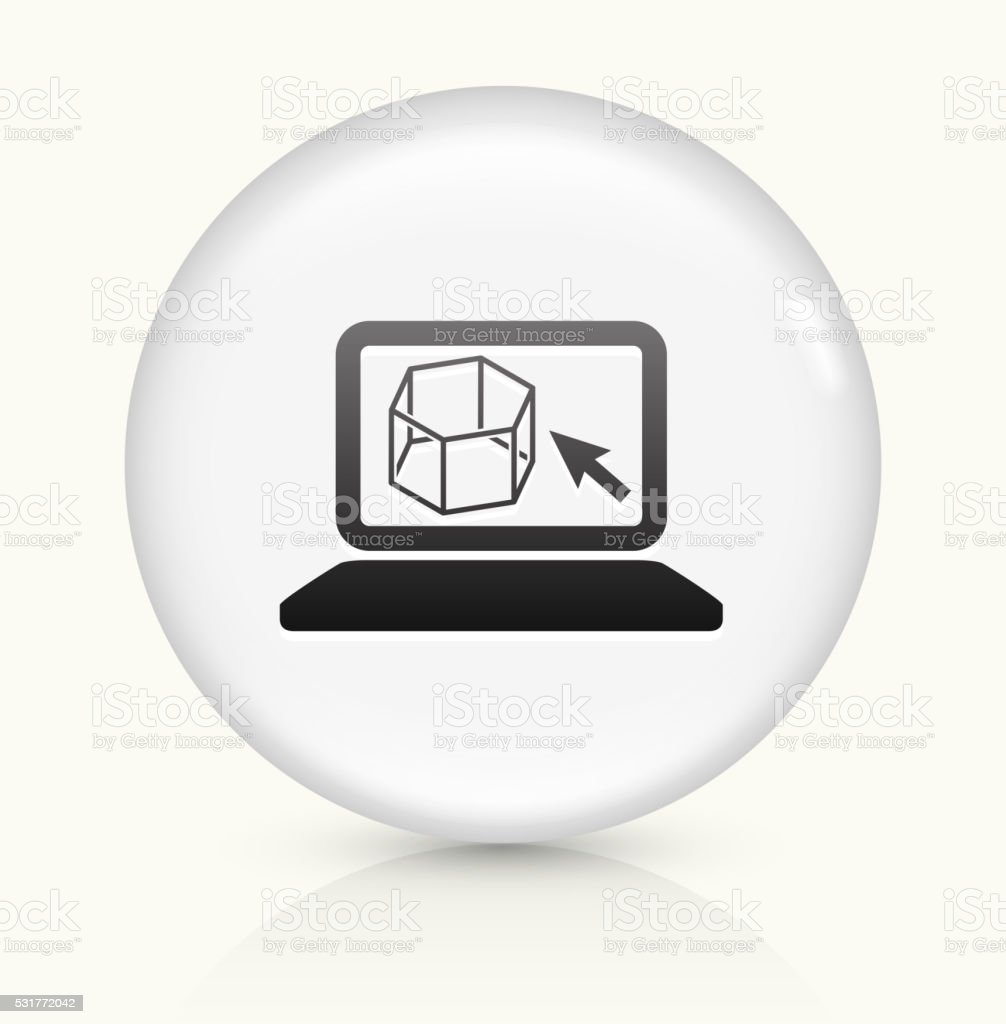 Construction Program icon on white round vector button vector art illustration