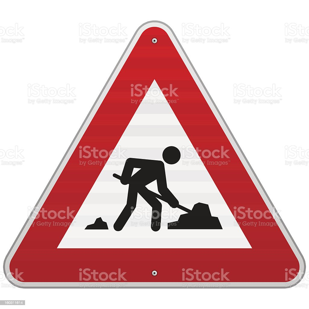 Construction Road Sign royalty-free stock vector art