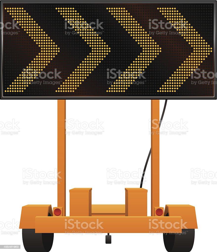 Construction Sign vector art illustration