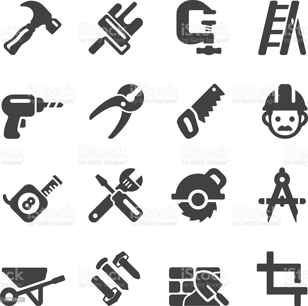 Construction Silhouette icons | EPS10 stock photo