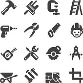 Construction Silhouette icons | EPS10