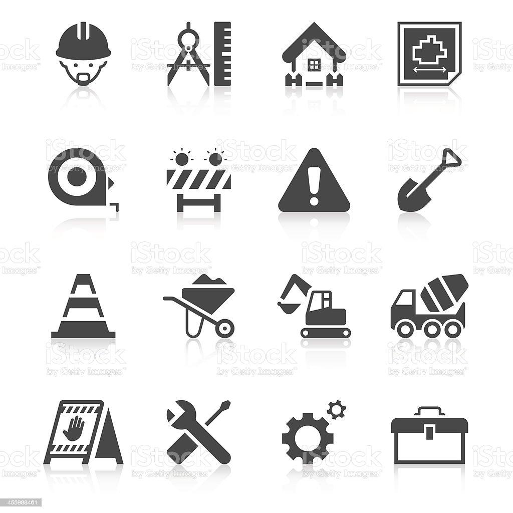 Construction Site Icon Set | Unique Series vector art illustration
