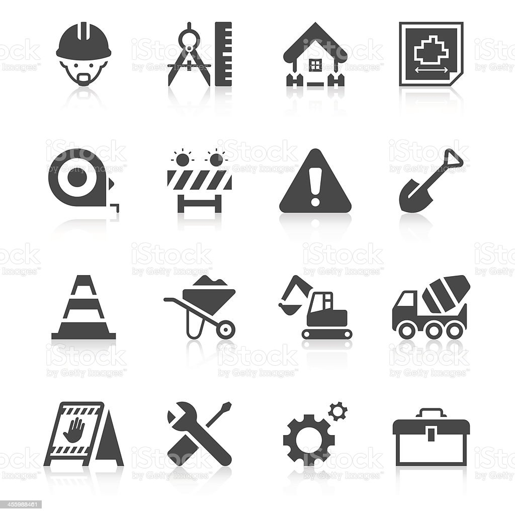 Construction Site Icon Set | Unique Series vector art illustration