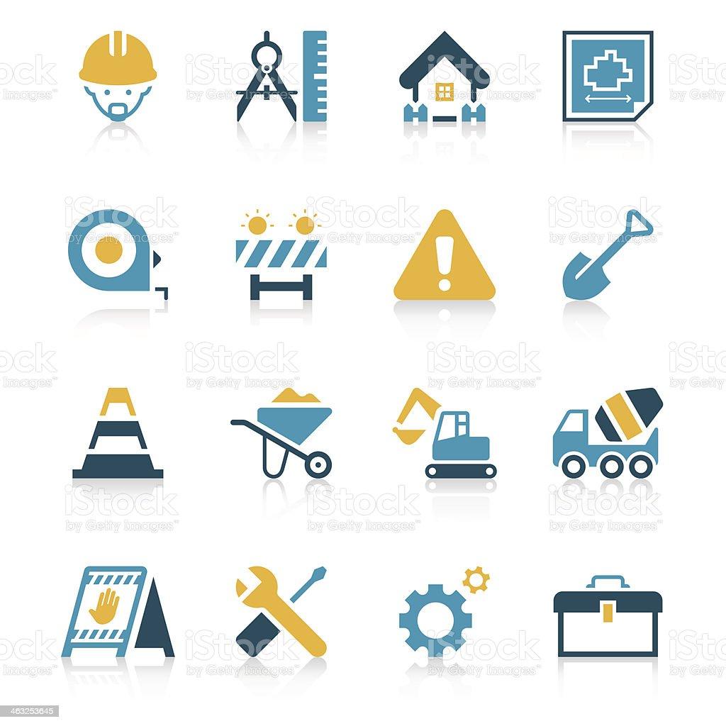 Construction Site Icon Set | Vivid Series vector art illustration
