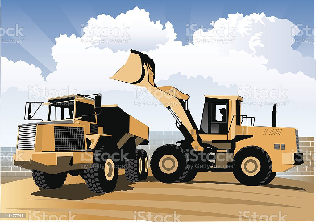 Construction: Solid Foundation vector art illustration