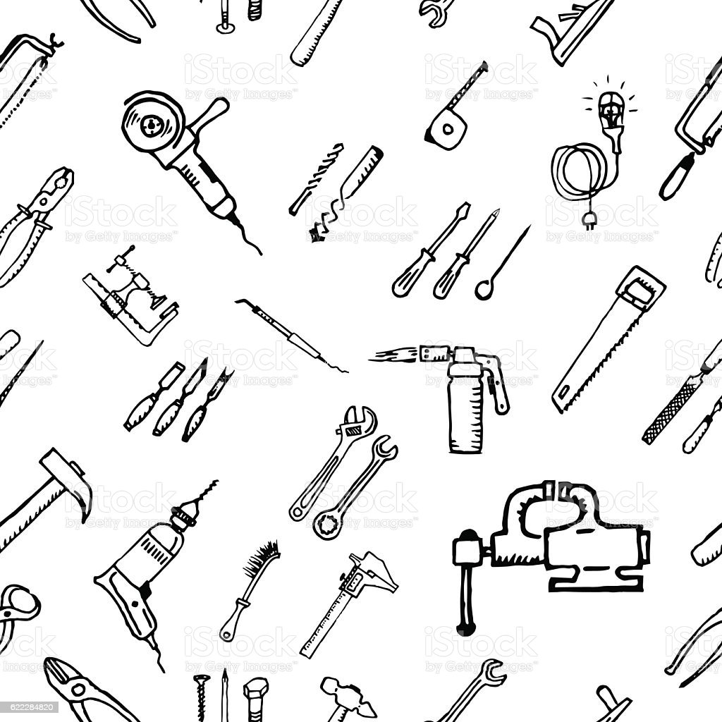 Construction tool icon collection - vector illustration vector art illustration