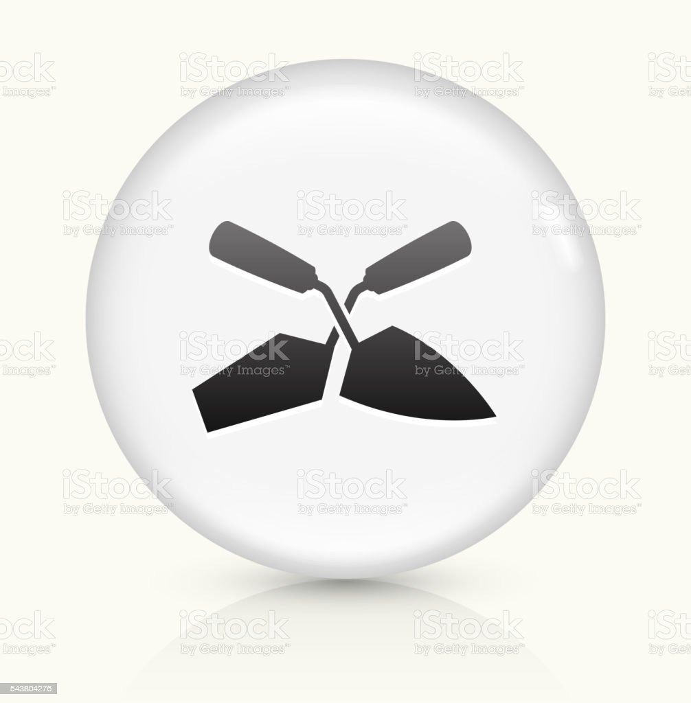Construction Tool icon on white round vector button vector art illustration