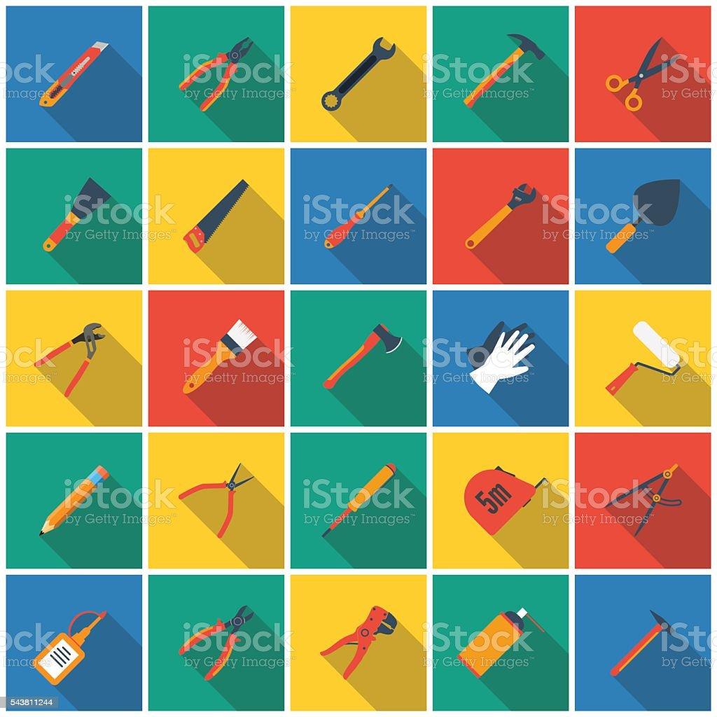 Construction tool icon vector art illustration