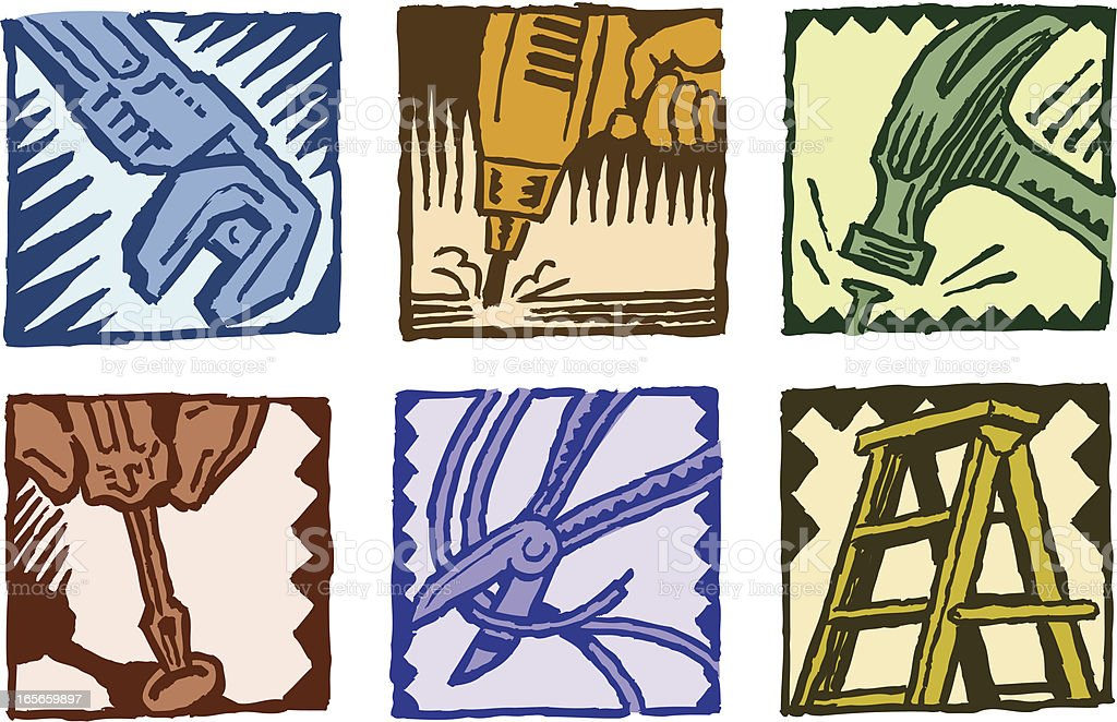 Construction Tools - Handyman Icons royalty-free stock vector art