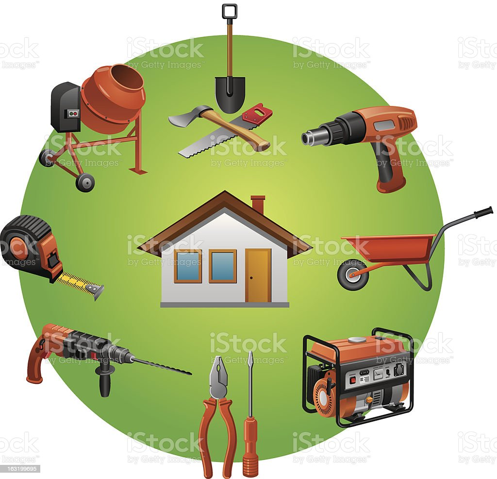 construction tools icon royalty-free stock vector art