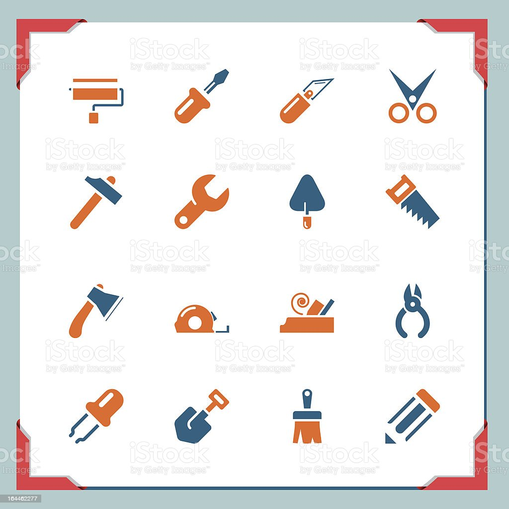 Construction tools | In a frame series royalty-free stock vector art
