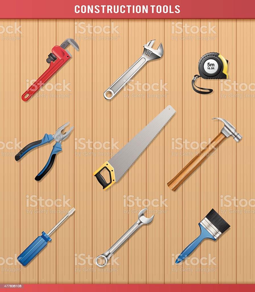 Construction Tools - Vector vector art illustration