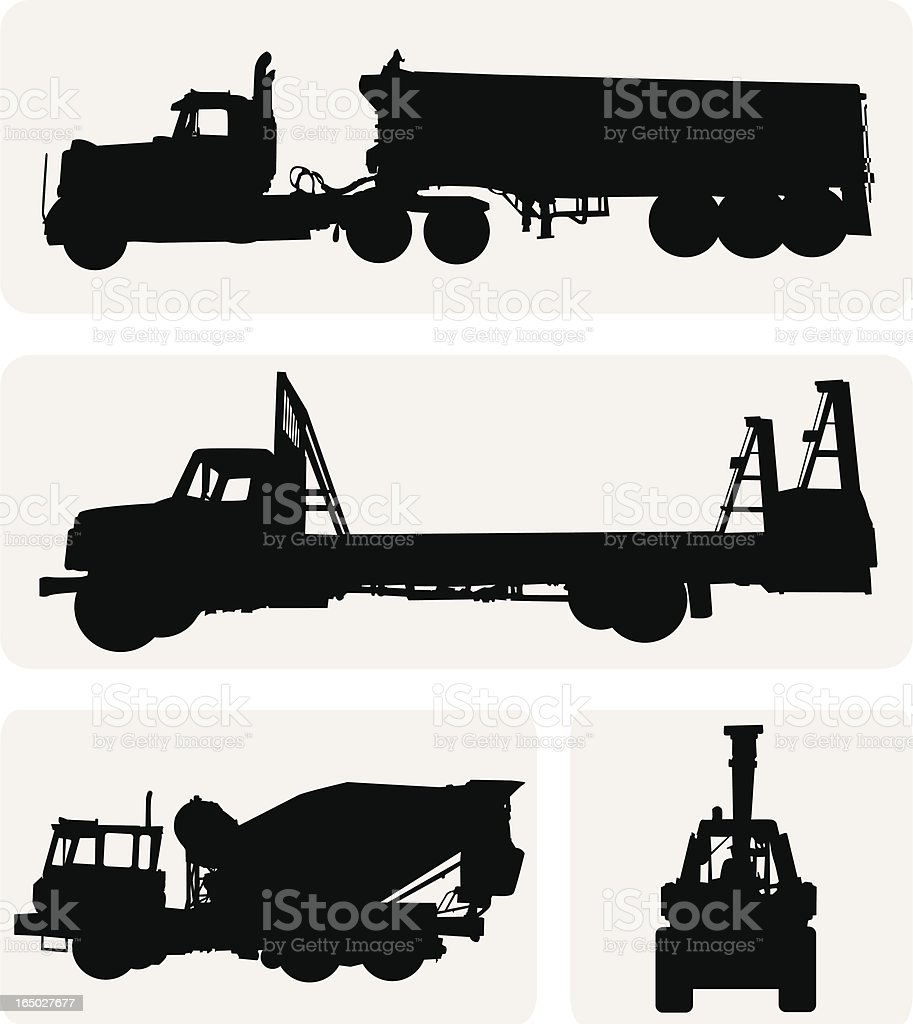 Construction Trucks ( Vector ) royalty-free stock vector art