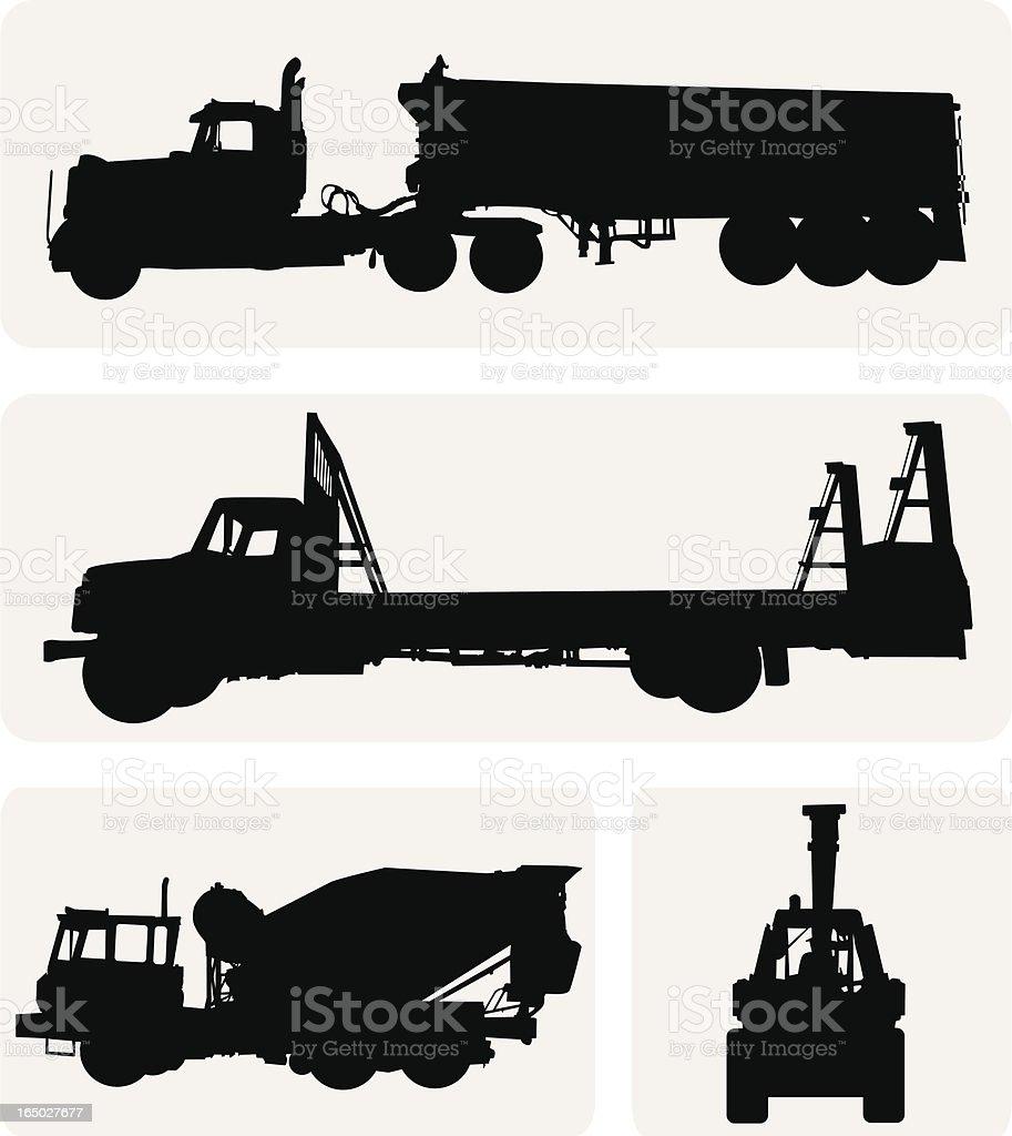 Construction Trucks ( Vector ) vector art illustration