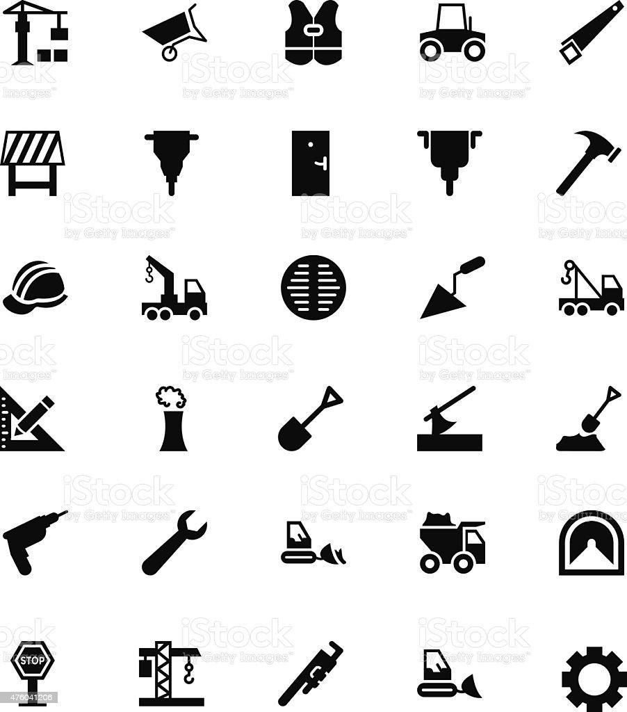 Construction Vector Icons 2 vector art illustration