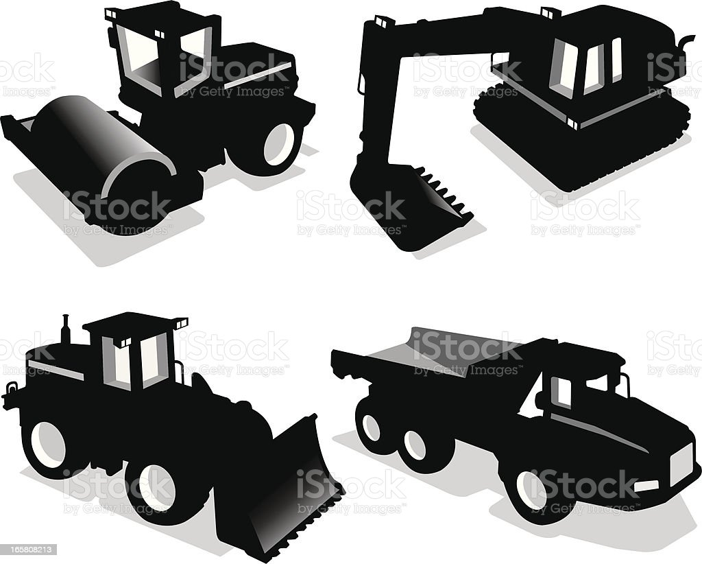 Construction Vehicle Set royalty-free stock vector art