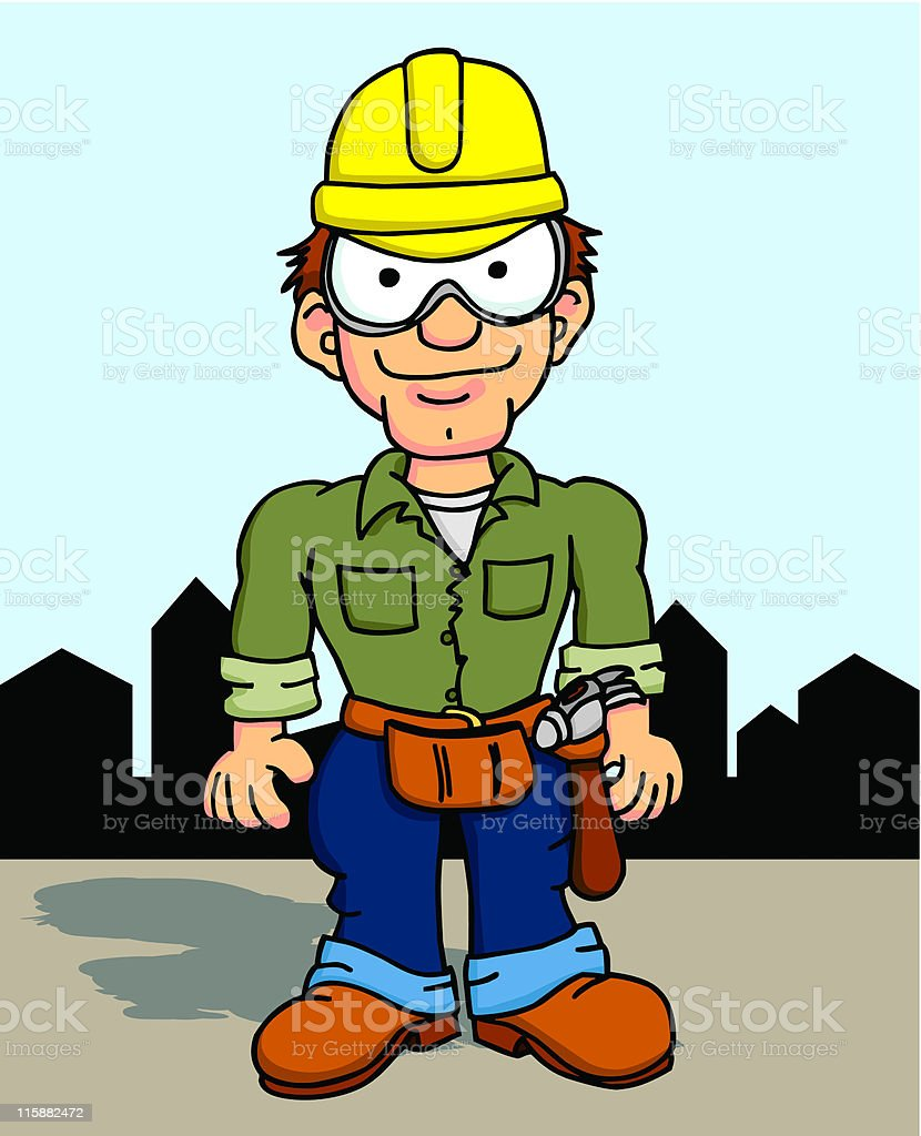 Construction Worker 4 royalty-free stock vector art