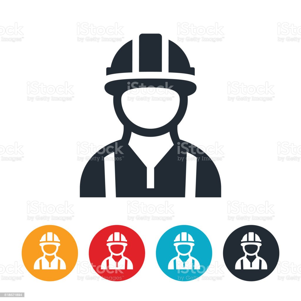 Construction Worker Icon vector art illustration