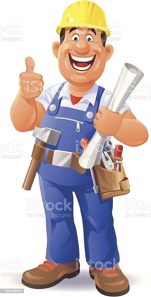Bauarbeiter zeichnung  Bauarbeiter Vektor Illustration 165798345 | iStock