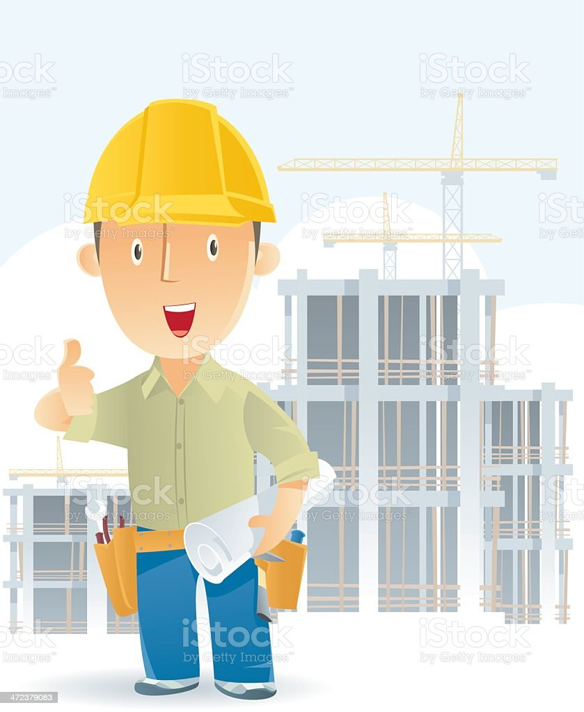 Construction Worker royalty-free stock vector art