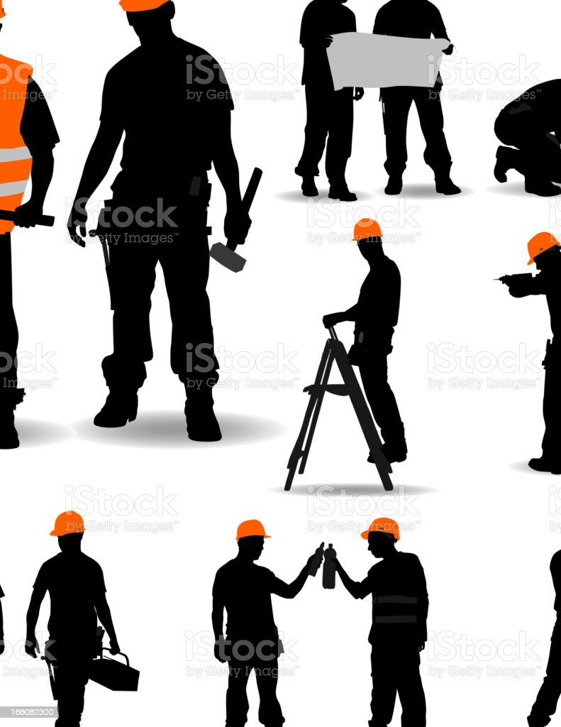 Construction Workers. vector art illustration