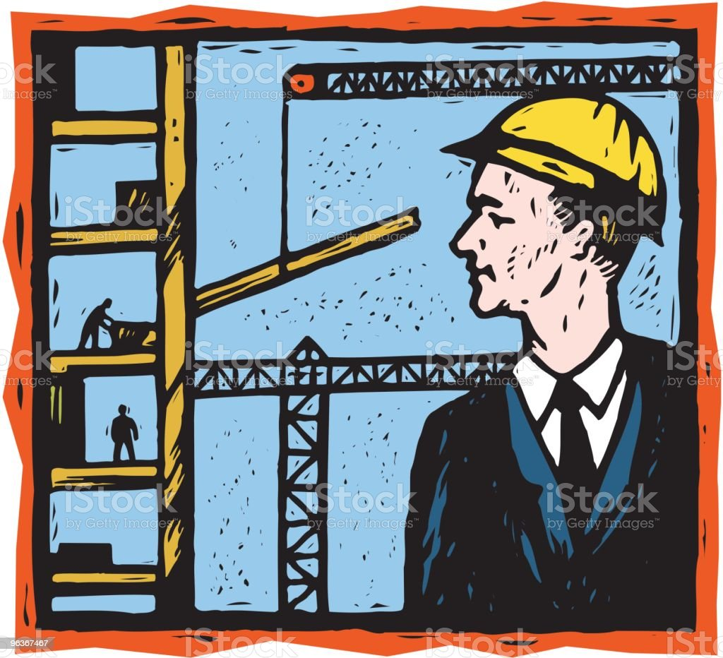 Construction Zone royalty-free stock vector art