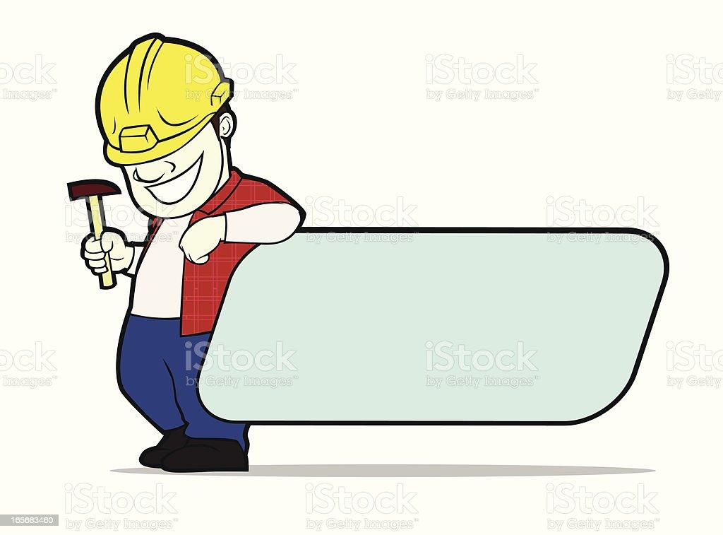 Constructor label vector art illustration