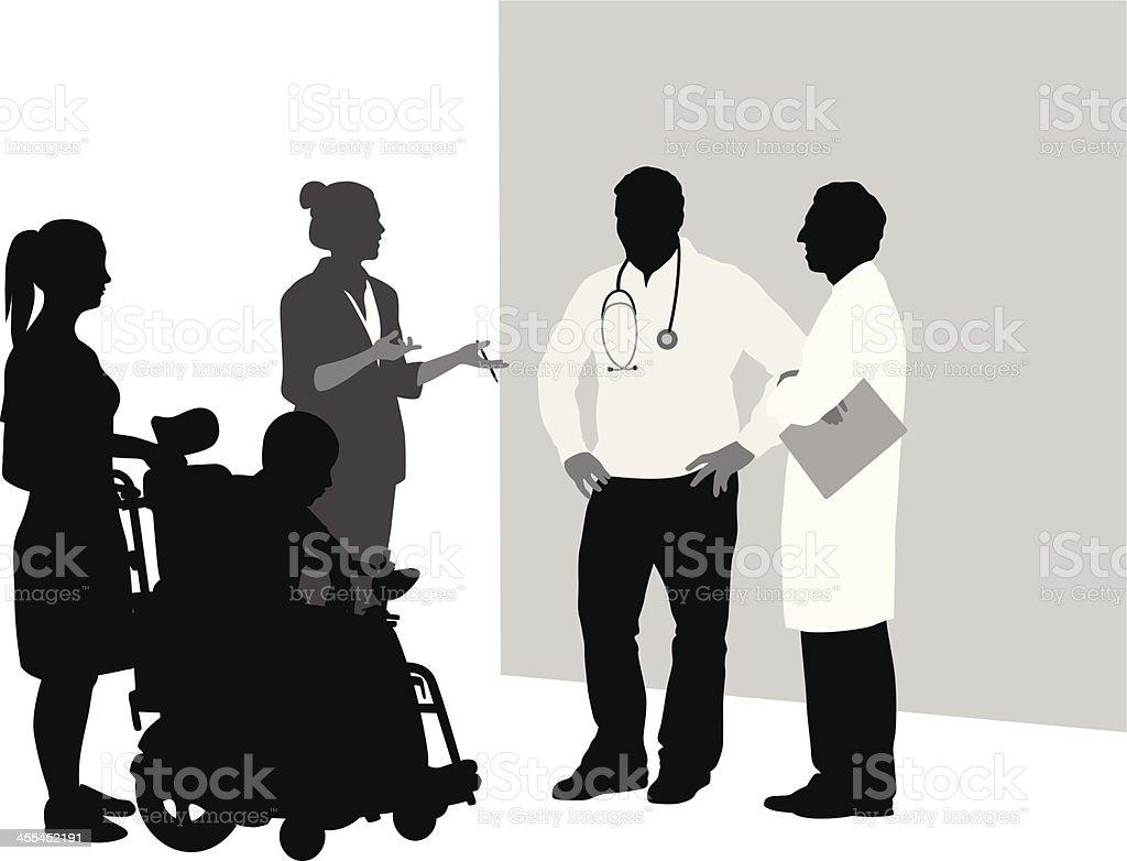 Consultation Vector Silhouette vector art illustration