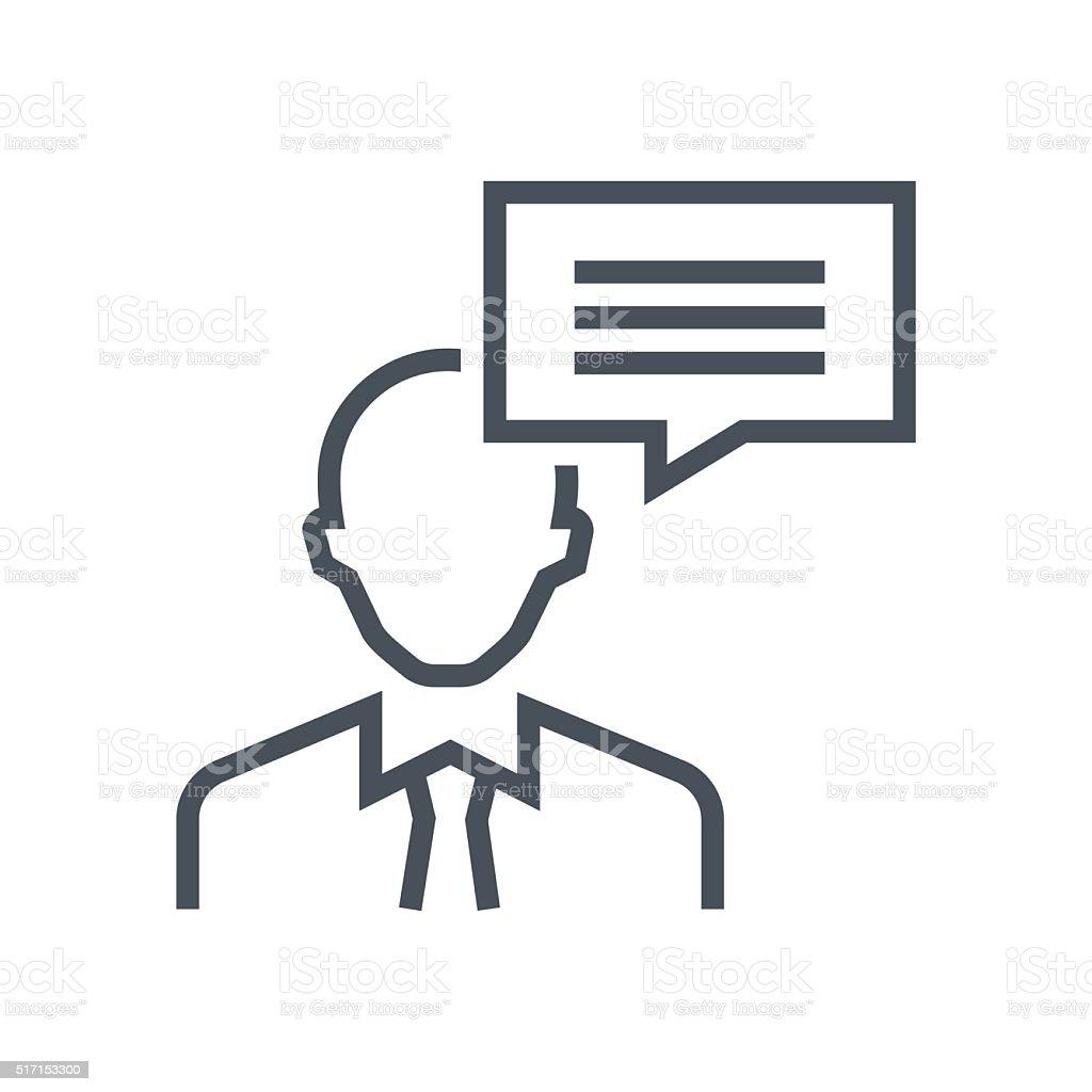 Consulting, customer service icon vector art illustration