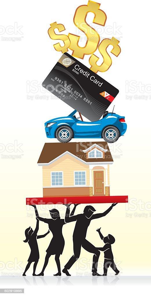 Consumer Balancing Expenditures vector art illustration