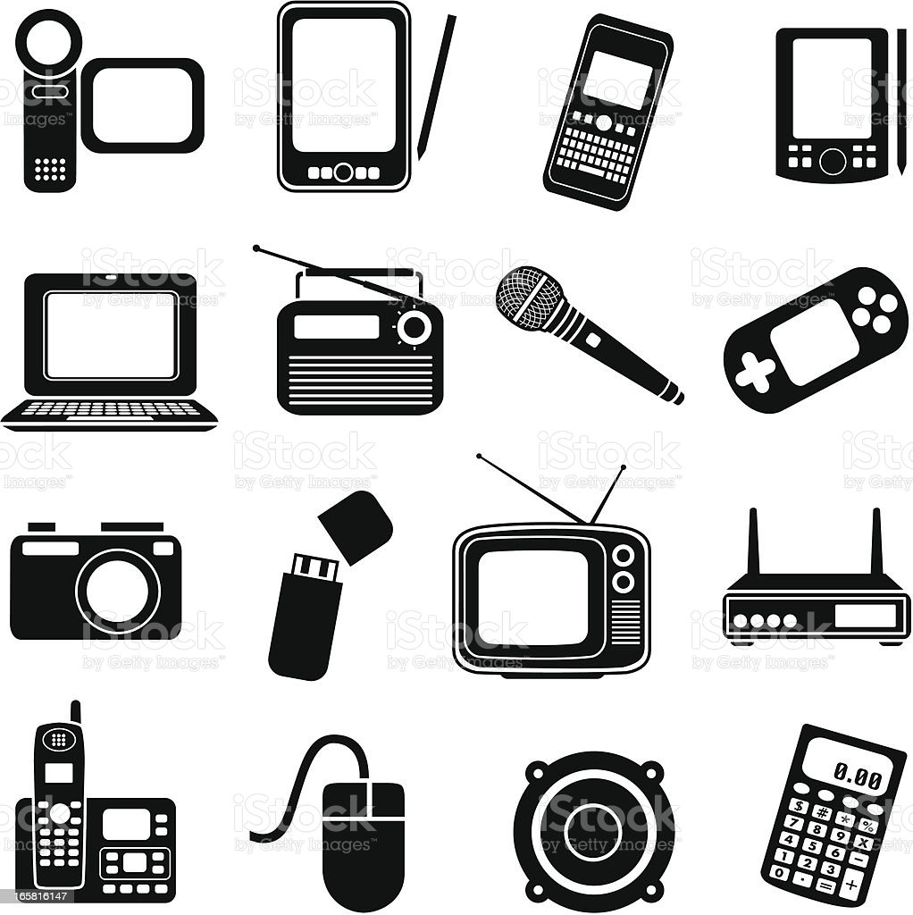 consumer electronics vector art illustration