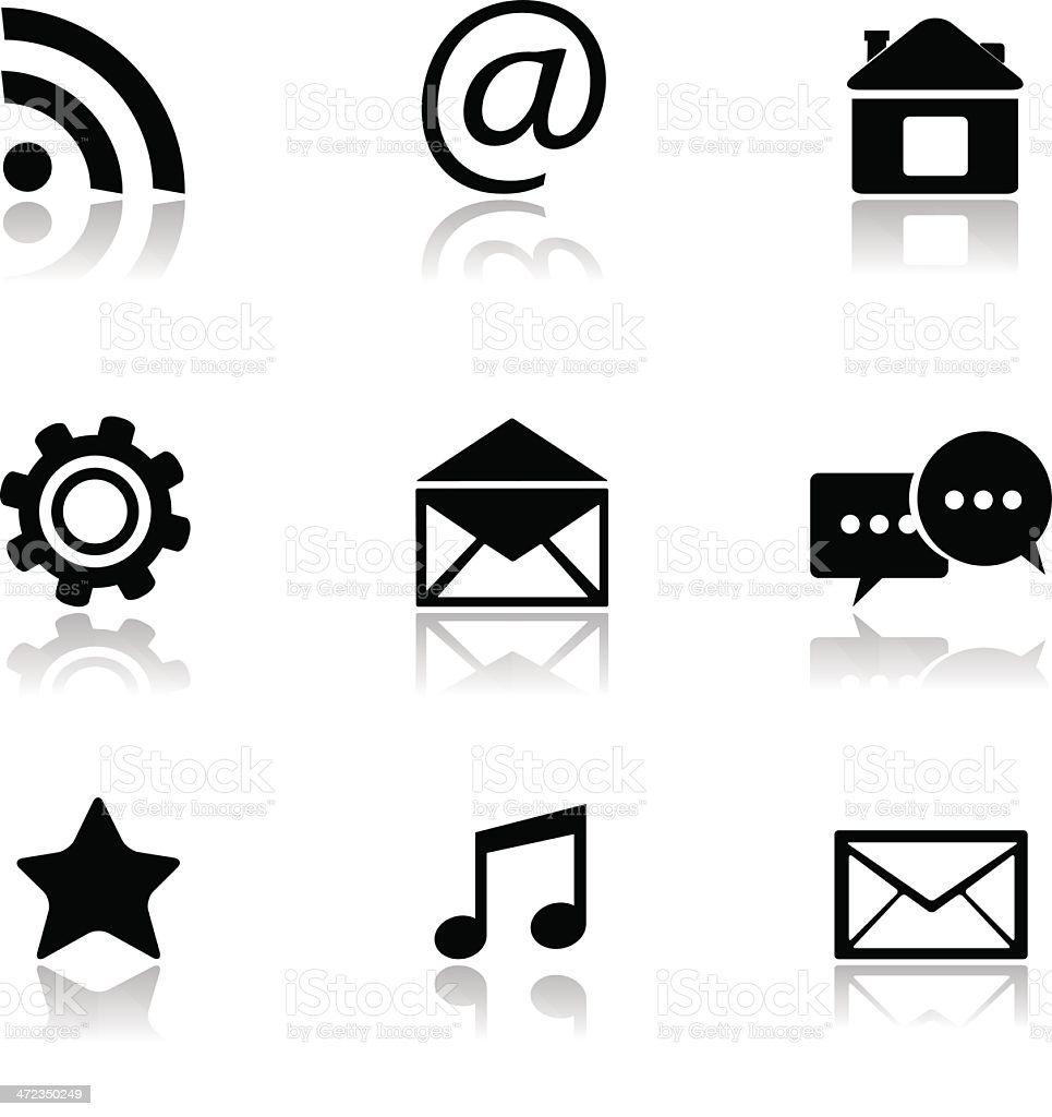 Contact and e-mail icons. royalty-free stock vector art