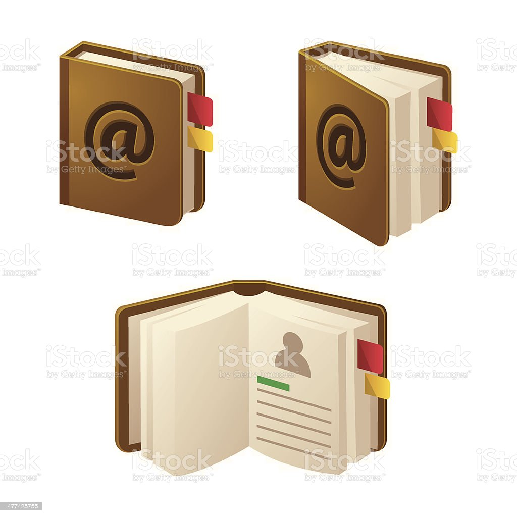 Contact book royalty-free stock vector art