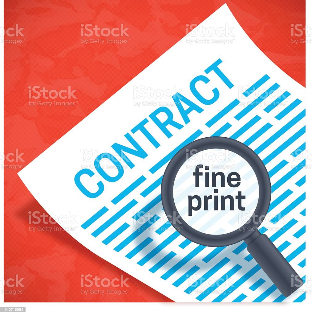 Contact Fine Print vector art illustration