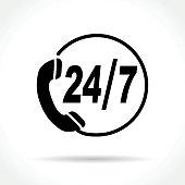contact icon on white background