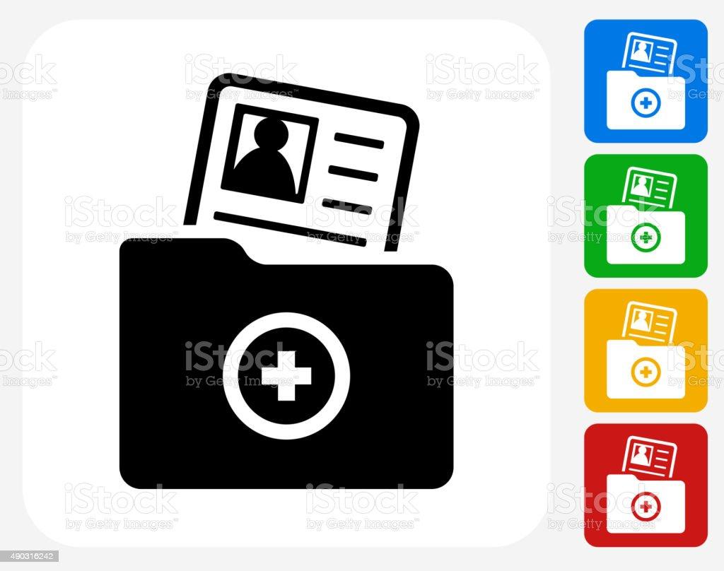 Contact Info Icon Flat Graphic Design vector art illustration