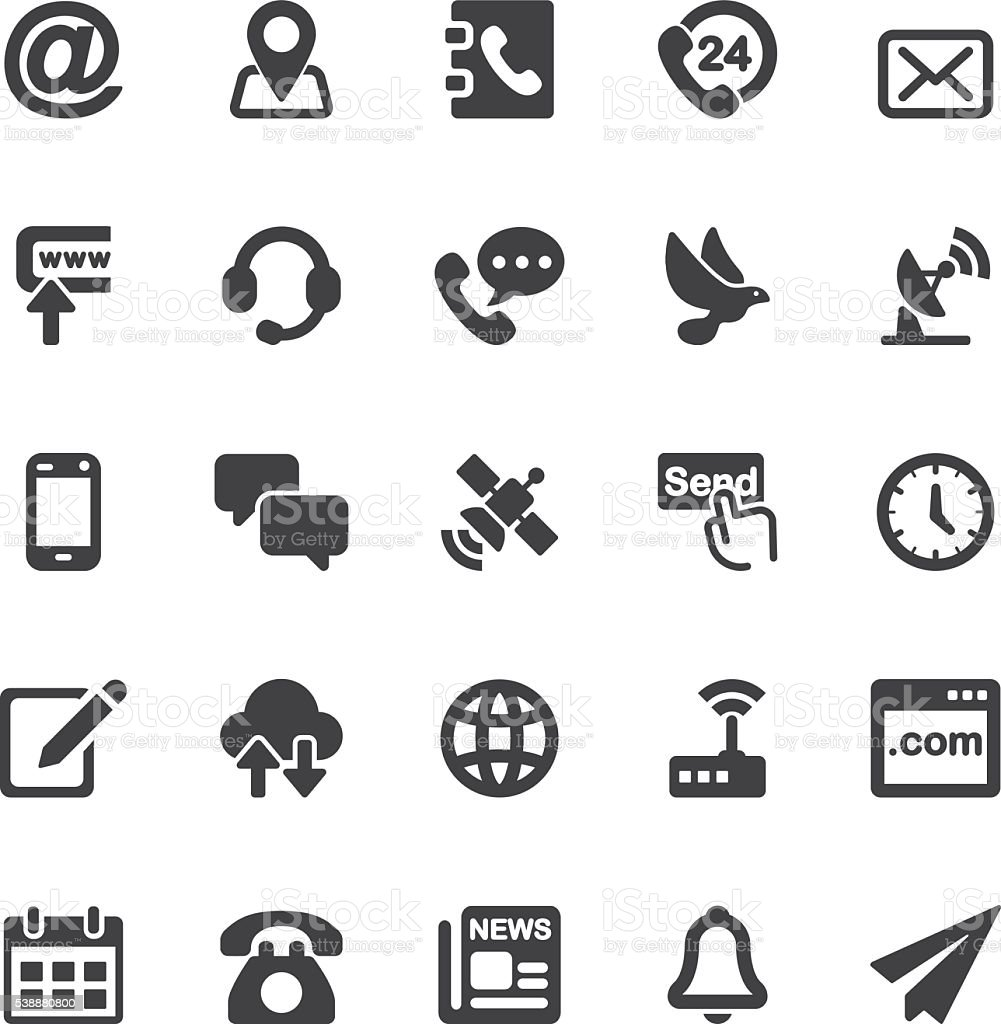 Contact Silhouette icons | EPS10 vector art illustration