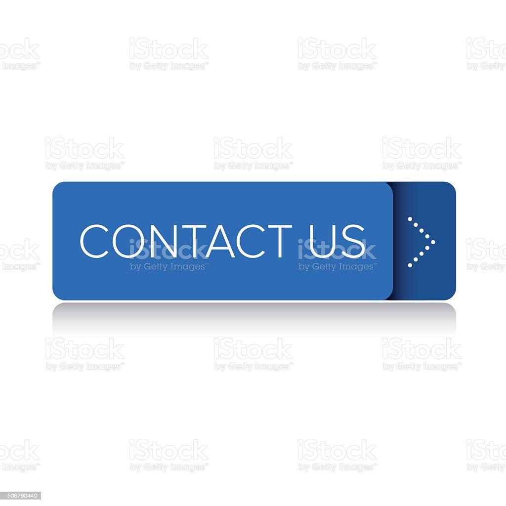 Contact us blue button vector art illustration