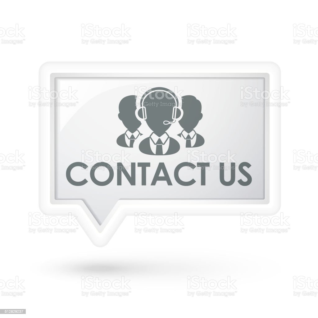 contact us with services icon on a speech bubble vector art illustration