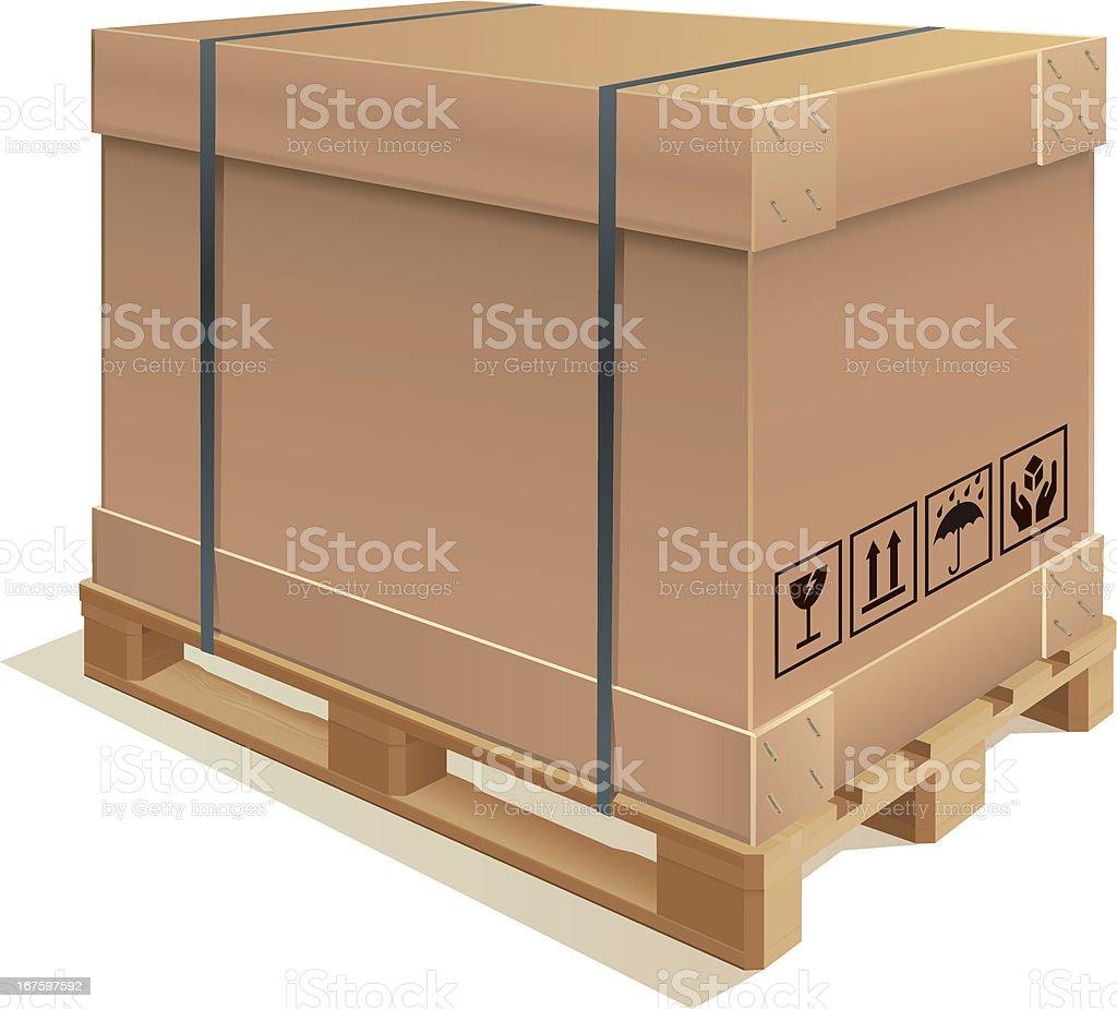 Container carton royalty-free stock vector art