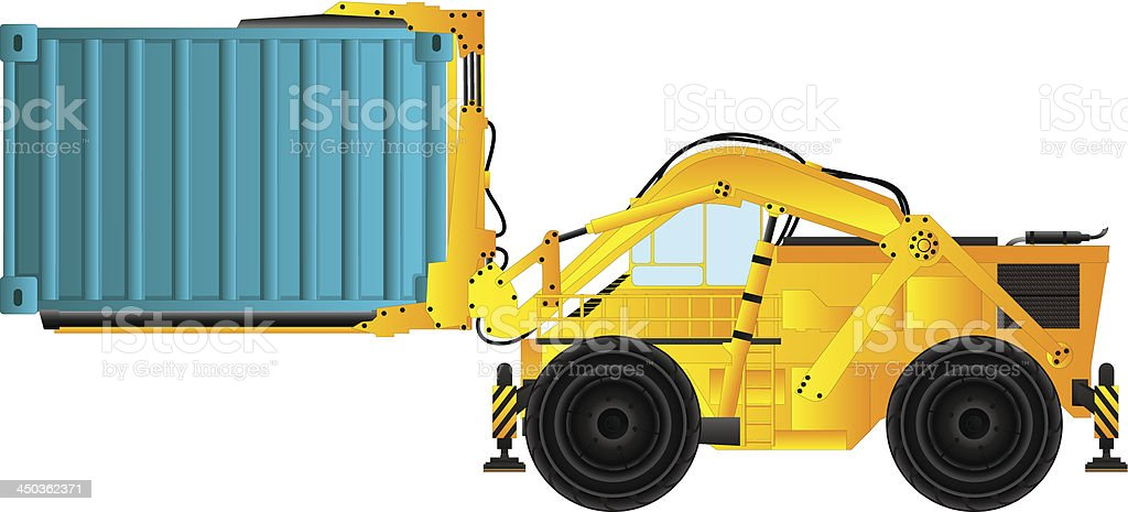 Container handler royalty-free stock vector art