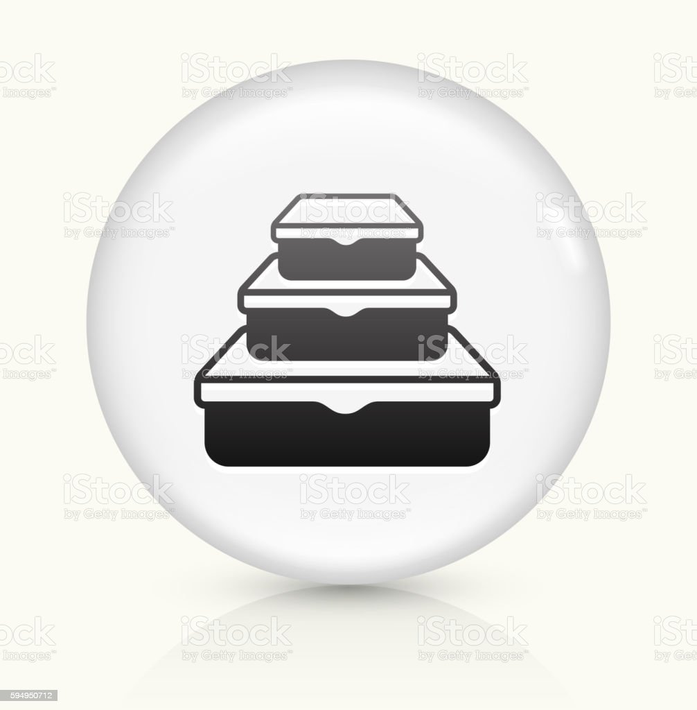 Container icon on white round vector button vector art illustration